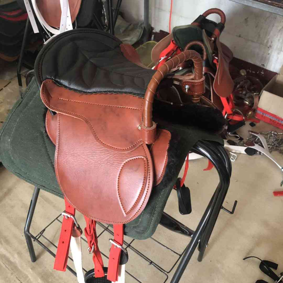 Saddle Full Set Of Harness, Cowhide, Saddles Horse Equestrian Supplies
