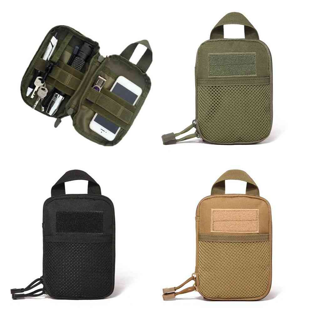 600d Nylon Tactical Outdoor Molle Military Waist Fanny Pack, Mobile Phone Pouch
