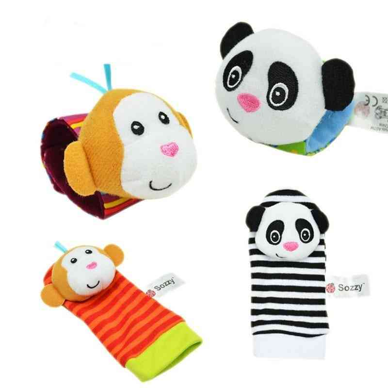 Sozzy Newborn Plush Sock Baby Toy, Animal Cute Cartoon Baby Rattles