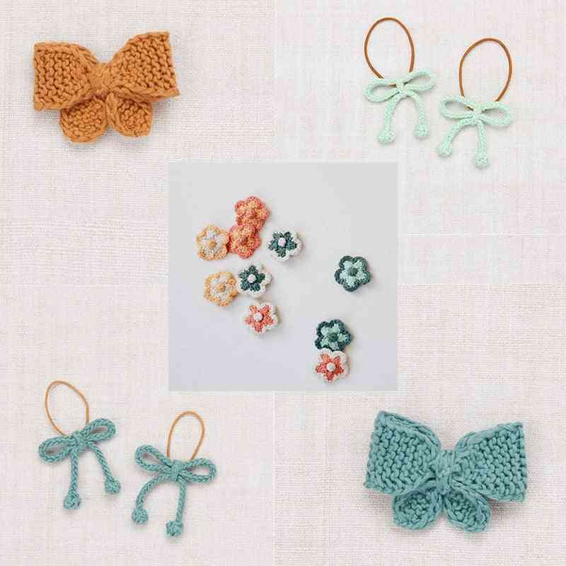 Puff Kids Bow Tie Hair Clips Beautiful Hand Made Accessories