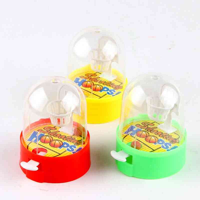 Cute Mini Basketball Machine, Handheld Finger Ball Reduce Pressure Player Shooting Puzzle, Toy