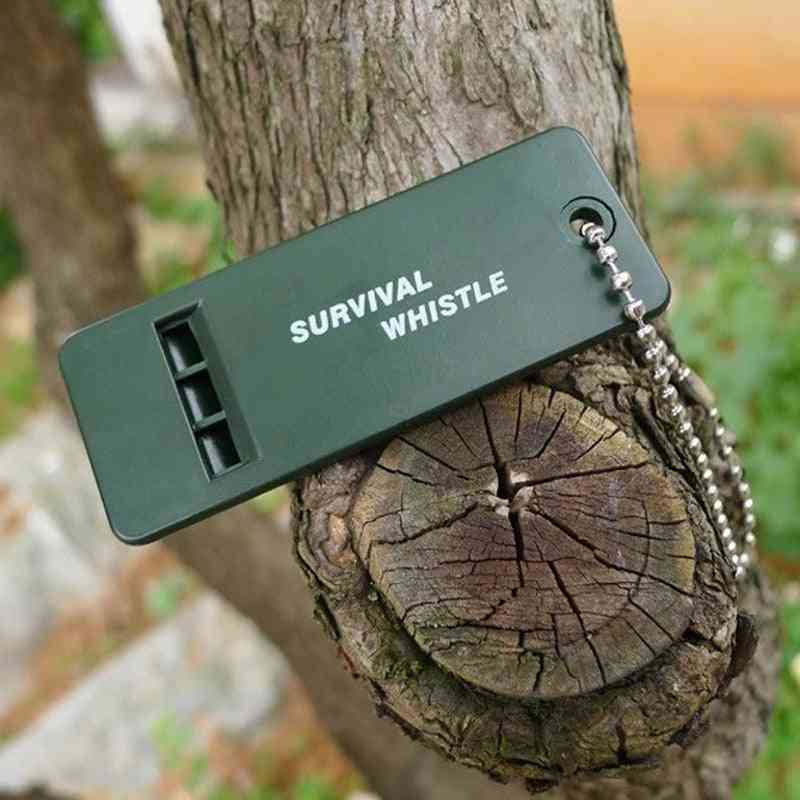 Rescue Survive Signal Sound Whistle, Camp Hike Outdoor Emergent Sport, Referee First Aid