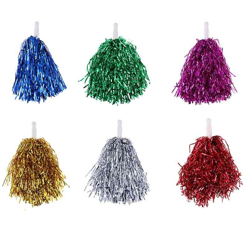 Cheer Dance Sport Competition Cheer Leading Pom Poms Flower Ball For Football / Basketball Match