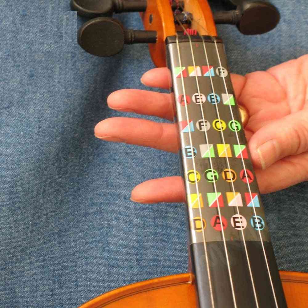 Violin Beginner Learning Tools, Fiddle Fingerboard Chord  Note Stickers, Fret Markers Labels