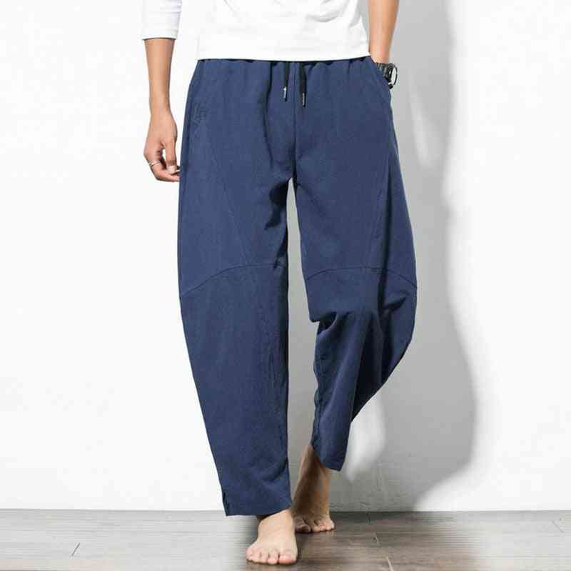 Men Long Trousers, Harlan Loose Wide Leg Beach Pants