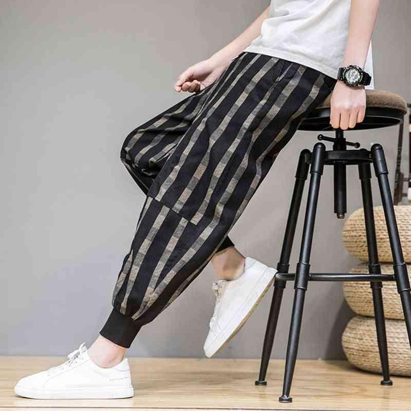 Men's Striped Pattern, Loose Harem Trousers/pants