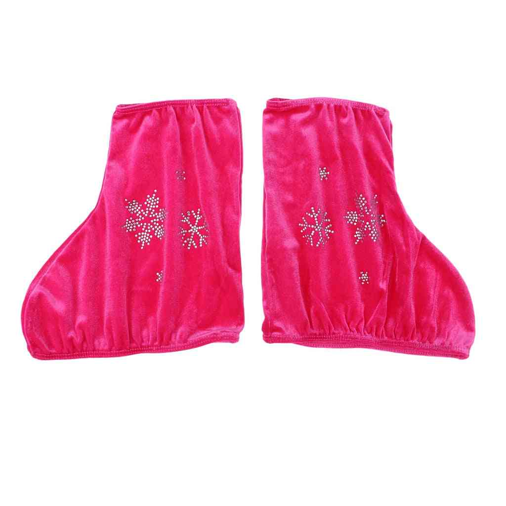 Snowflakes Printed Ice Skate Boots Cover