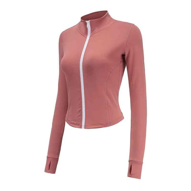 Long Sleeve, Zippered Sport Jacket-fitness Top