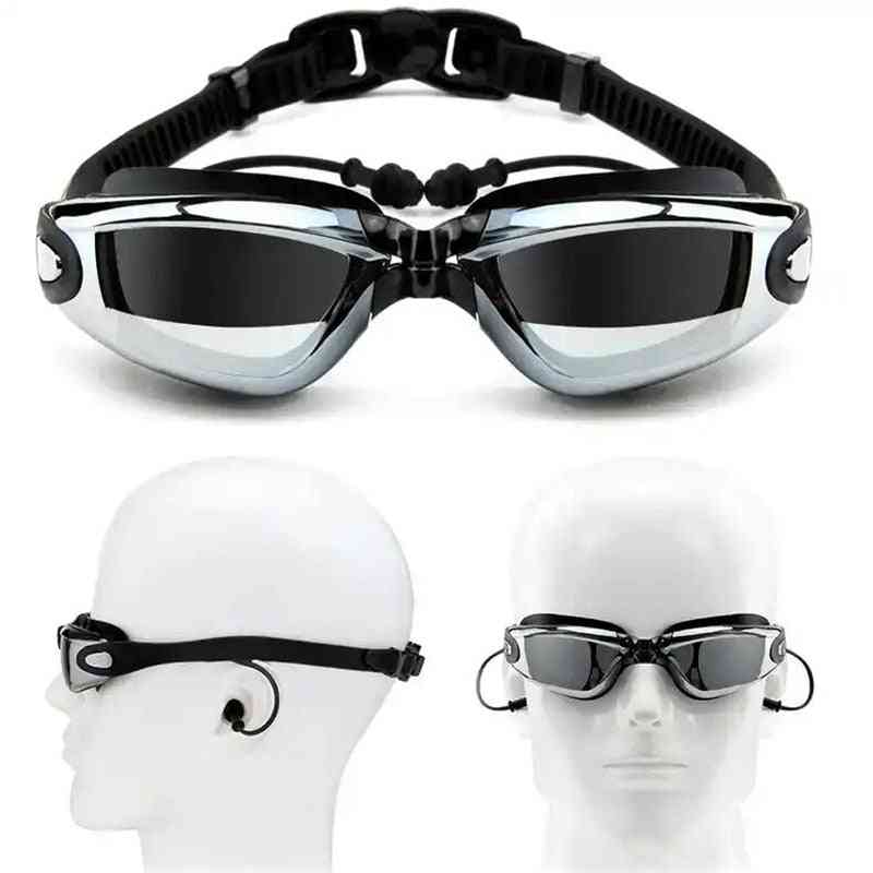 Professional Swimming Cap, Goggles With Earplug And Women