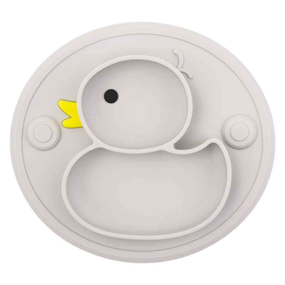 Duck Shape Silicone Dishes For Kids