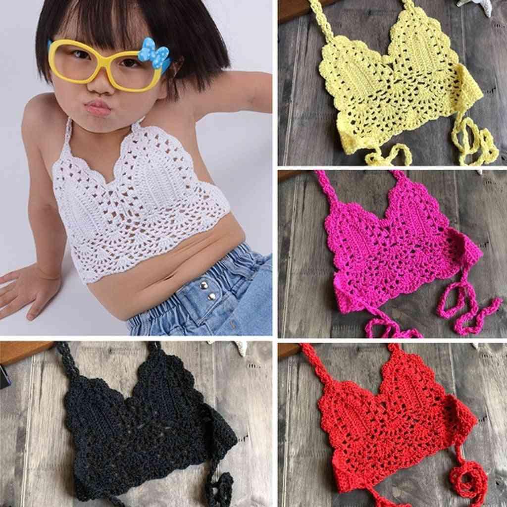 Crochet Straps Bikini Set For Kids