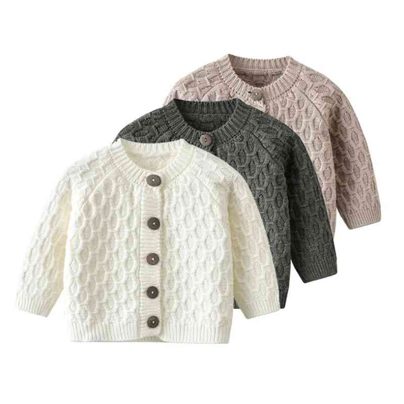 Knitted Solid Cardigan Sweater