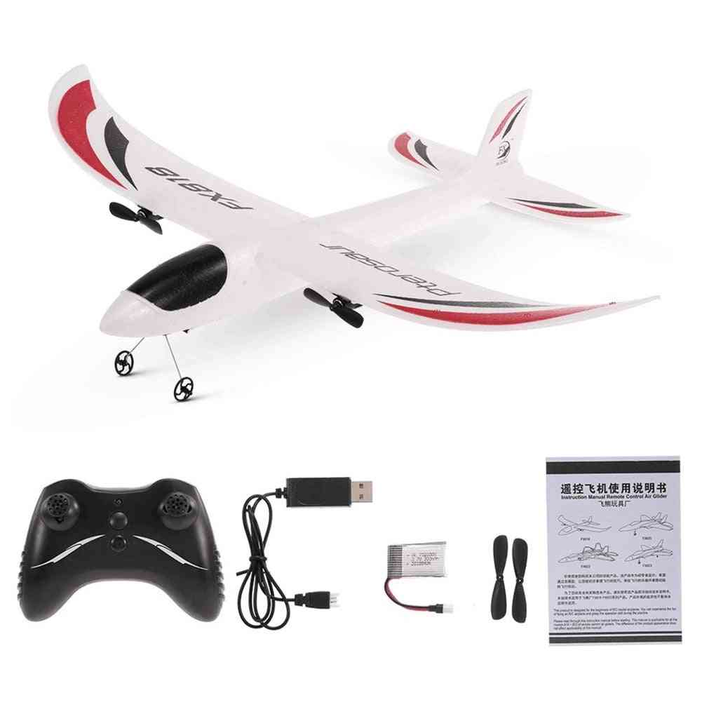 Remote Control Airplane Glider Toy With Led Light For Kids