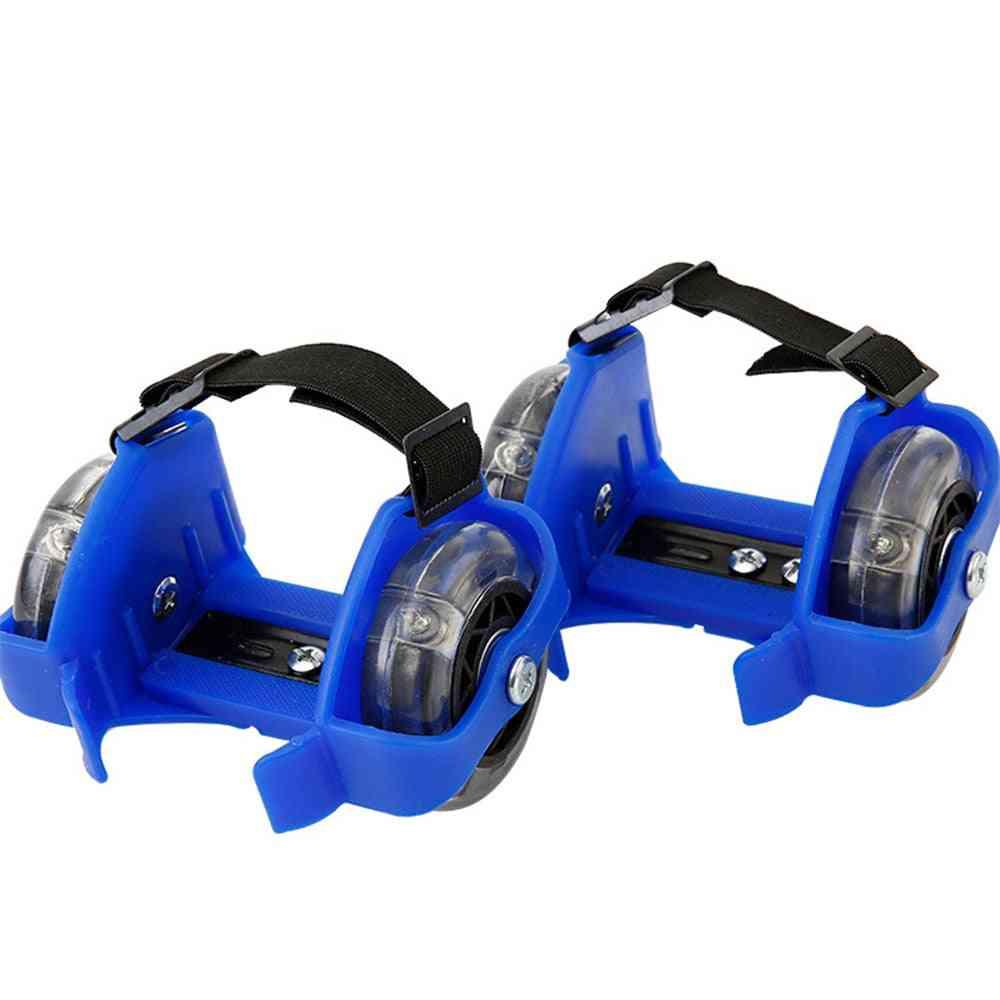 Flashing Roller Whirlwind Pulley / Wheels Heel Adjustable Shoes