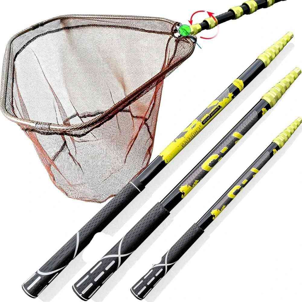 Portable Carbon Triangle Folding Fishing Net