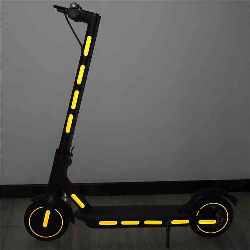 Scooter Body Wheel Hub Reflective Stickers Night Safety Accessories