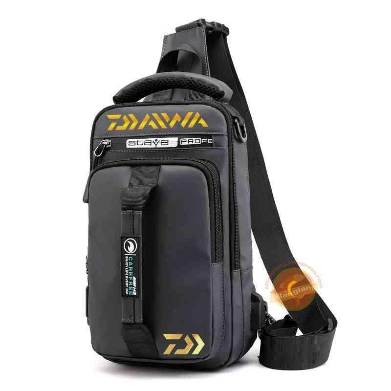 Men & Women Single Shoulder Fishing Bags, Waterproof  Multi Function Backpack