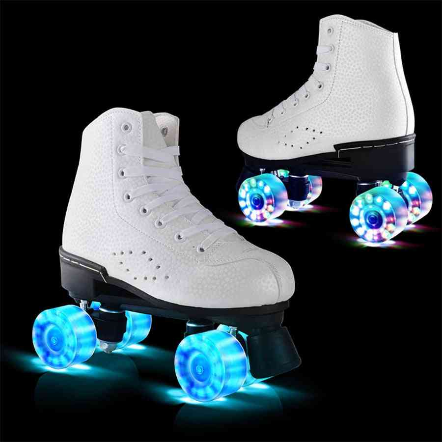 Led Flashing, Double Wheels Roller Skate Shoes For Male/female