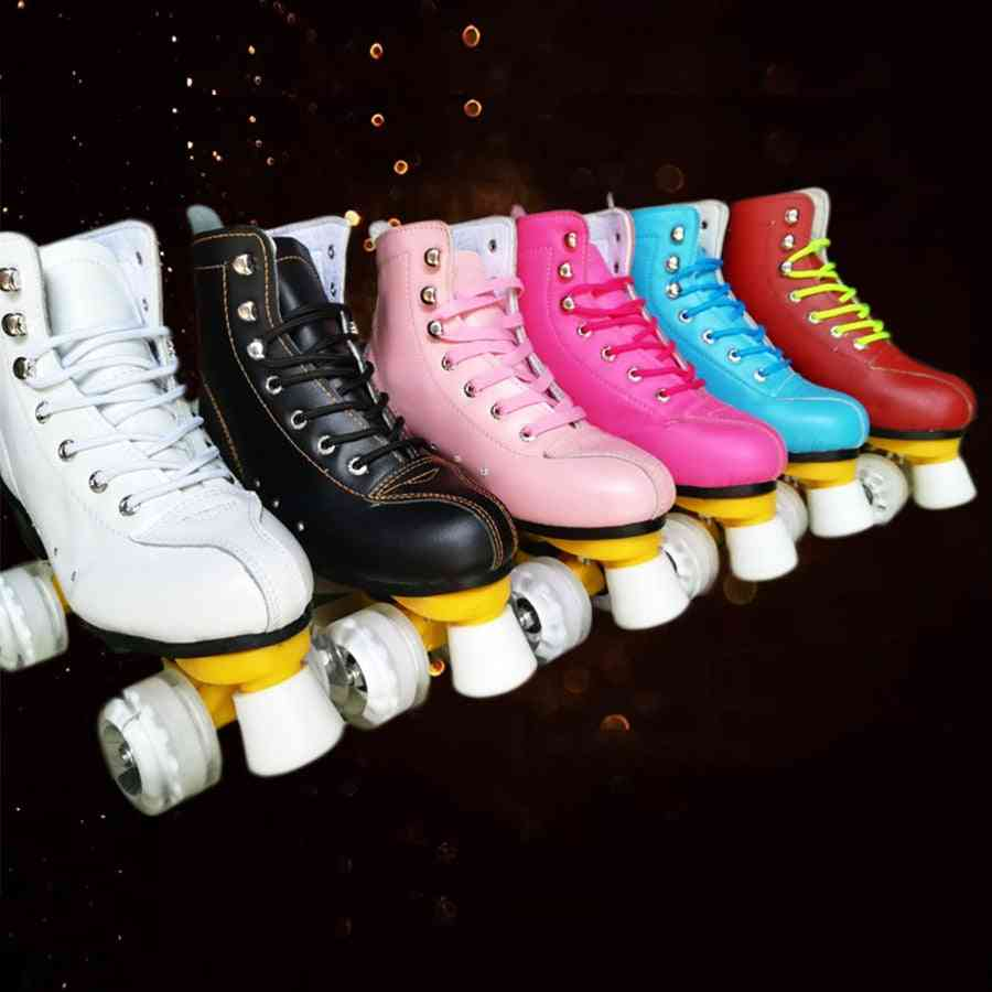 Double Line, Genuine Leather Roller Skates