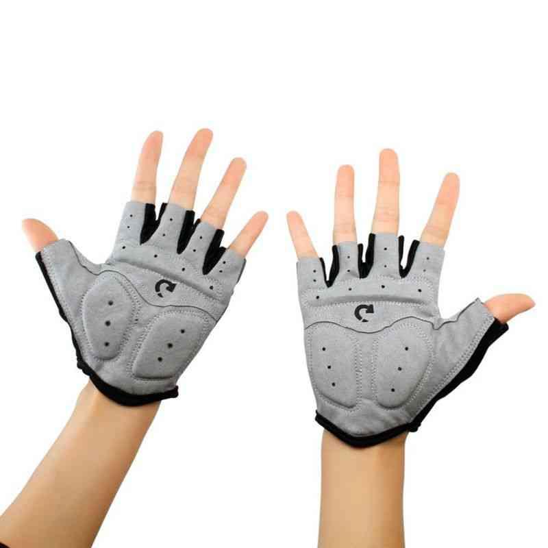 Men Women Half Finger -anti Slip Gel Pad Running Gloves
