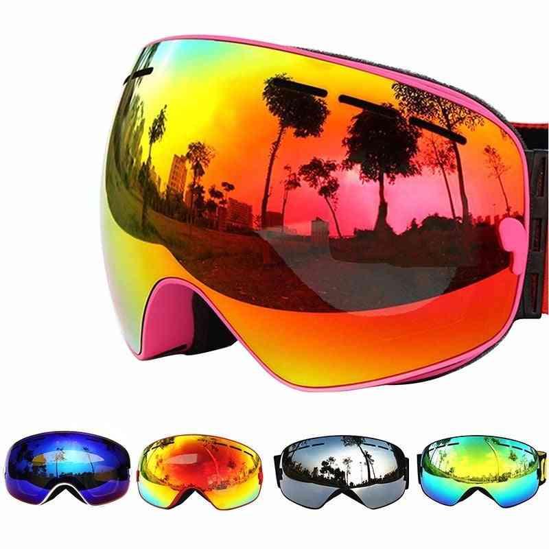 Double Layers,  Anti-fog-professional Ski Goggles