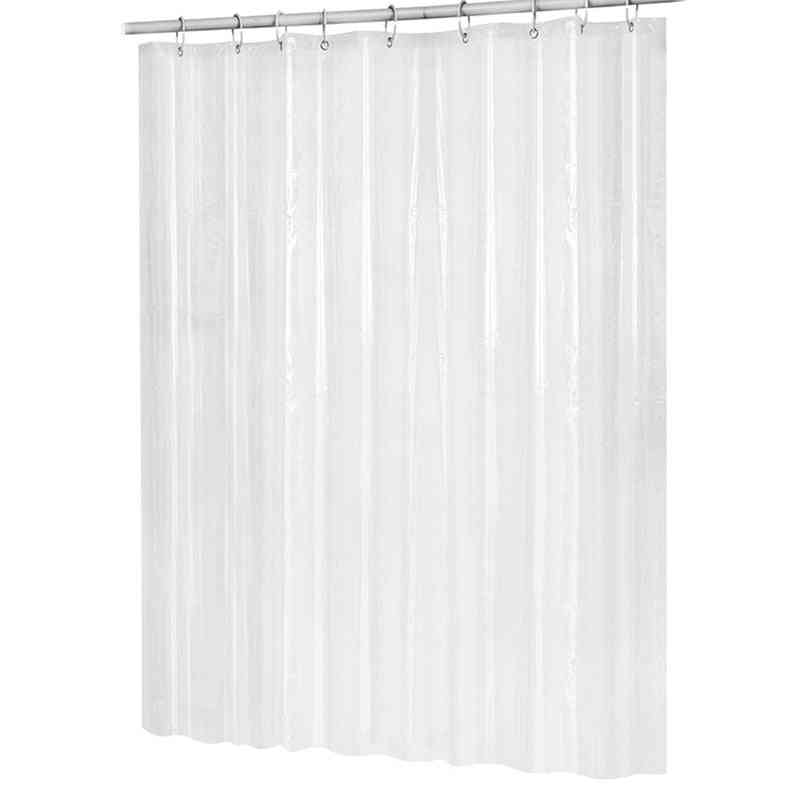 Waterproof Transparent Shower Curtain And Hooks
