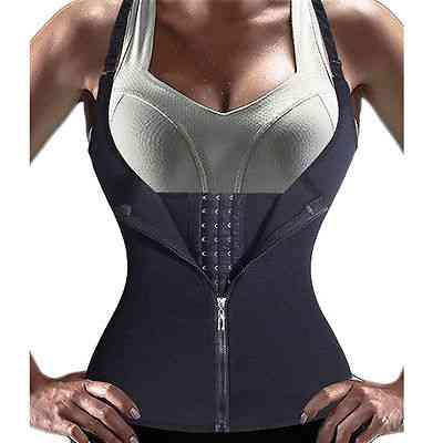 Neoprene, Sauna Sweat Vest- Women Body Slimming Shape Wear