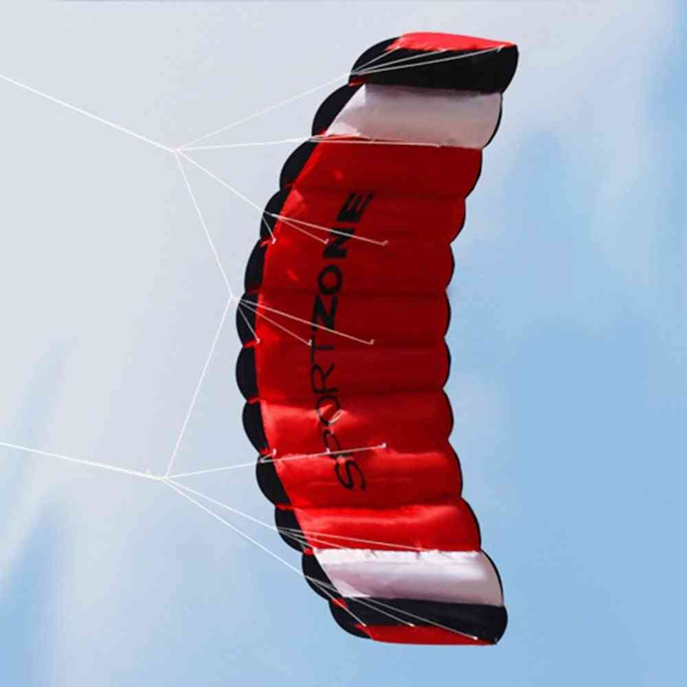Dual Line Parachute Stunt Kite Outdoor Fun Fly With Flying Tool