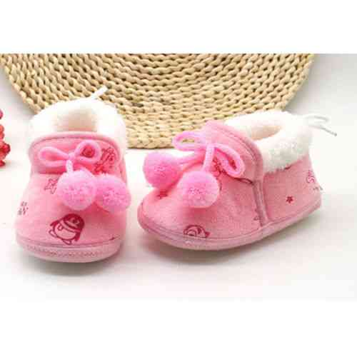 Cute Non Slip Crib Shoes, Winter Warm Baby Slippers Snow Boots
