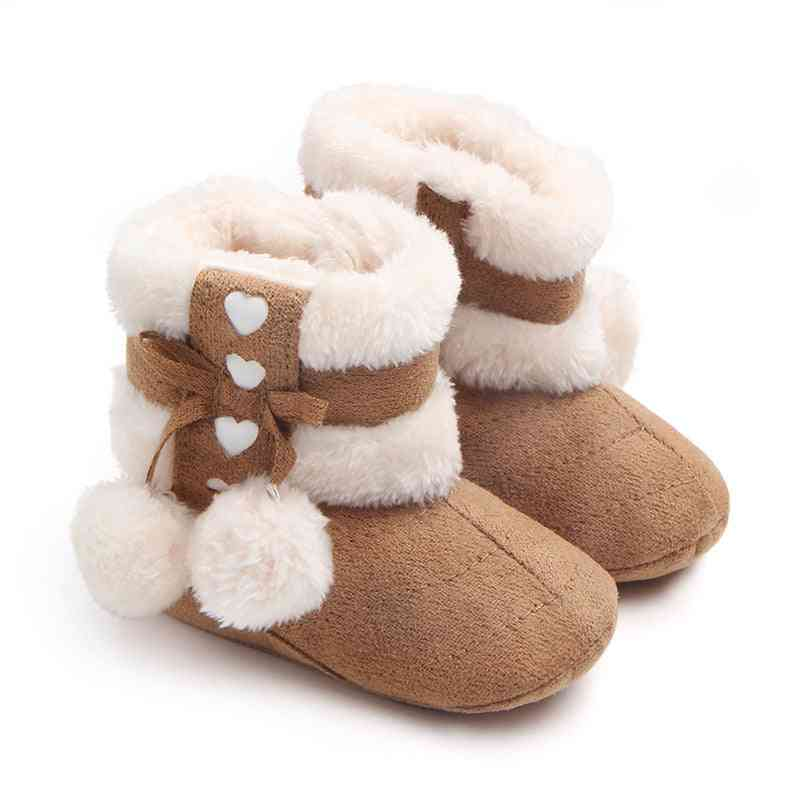 Winter Snow Boots, Newborn Baby Cute Soft Bottom Shoes