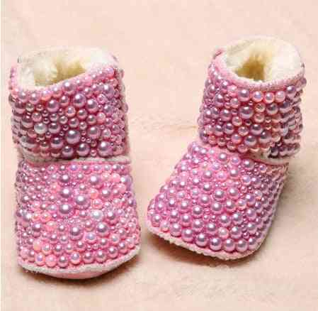 Baby Pearls Boots, Luxury Welcome Infant Beads Winter Botties