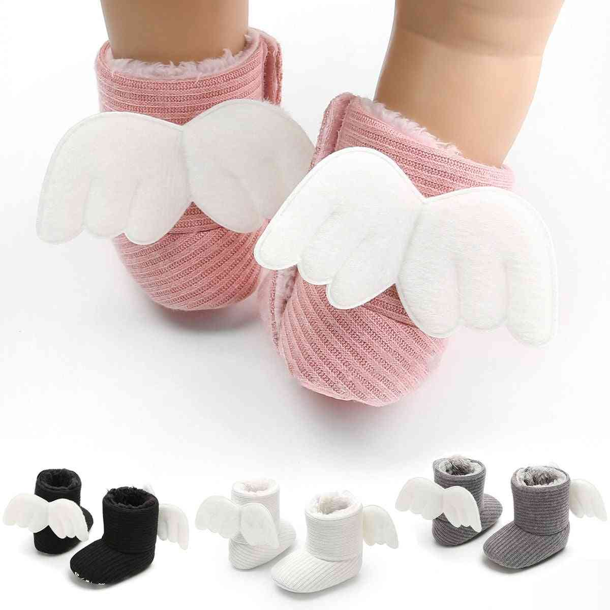 Soft Baby Booties Crib Boots / Shoes With Angle Wings