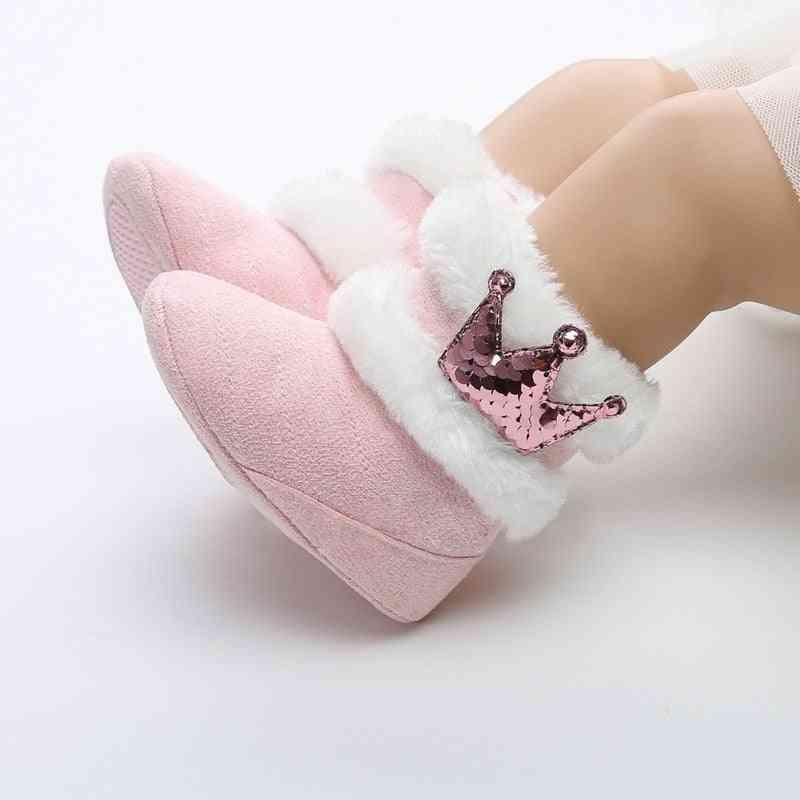Newborn Infant Baby Winter Warm Slip-on Furry Boots