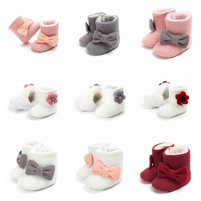 Cute Autumn & Winter Infants Shoes, Bow Knot Baby Boots
