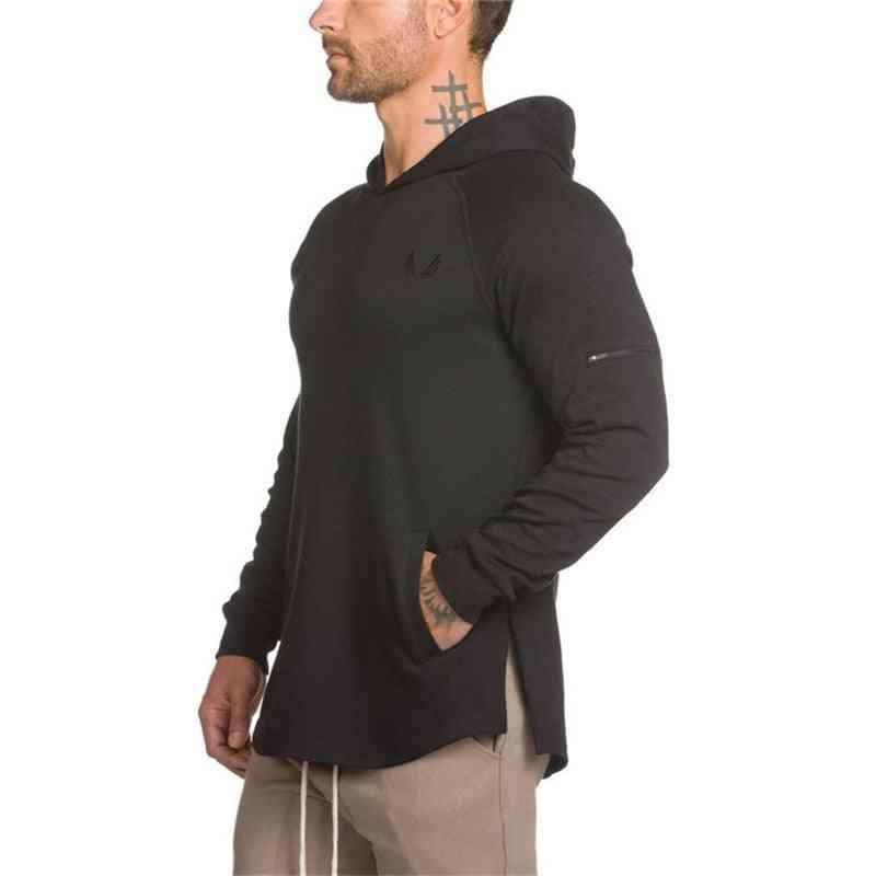 Men Sport Hoodies, Bodybuilding Sweatshirts Gym Running Jacket