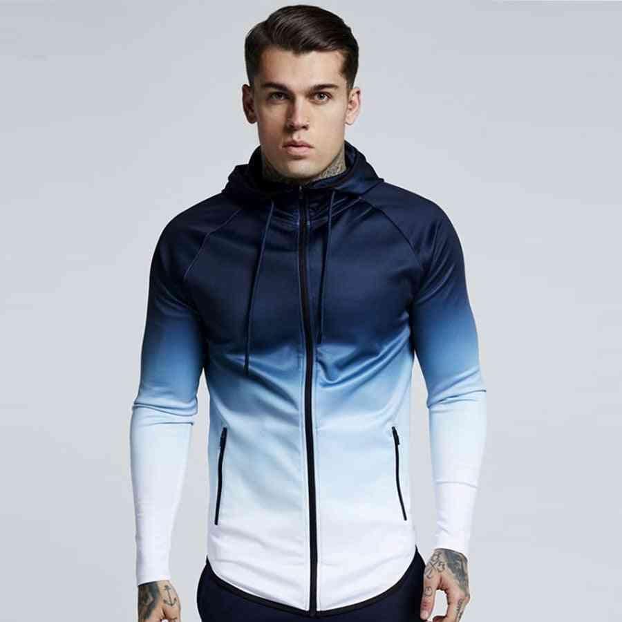 Men Hooded Sportswear Windproof Jackets