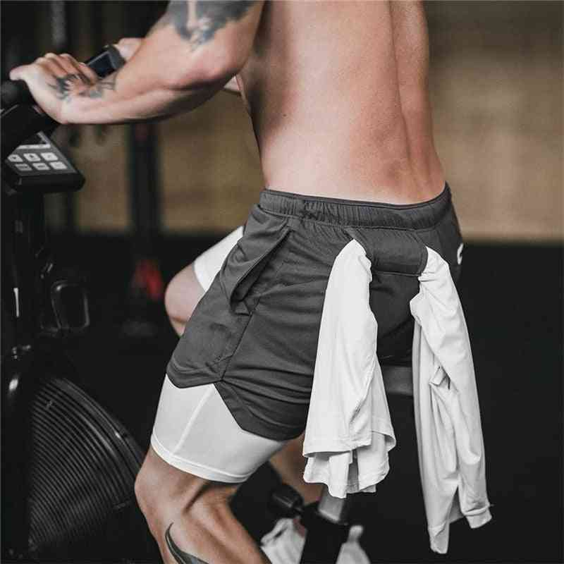 Quick Drying With Built-in Pockets Sport Shorts
