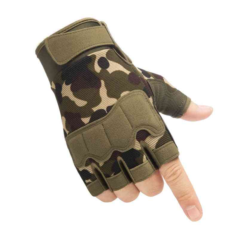 Fingerless Tactical Gloves- Military Army Hunting Gloves