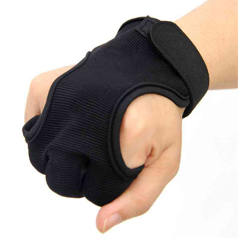 3 Finger Knitted/leather Archery Gloves