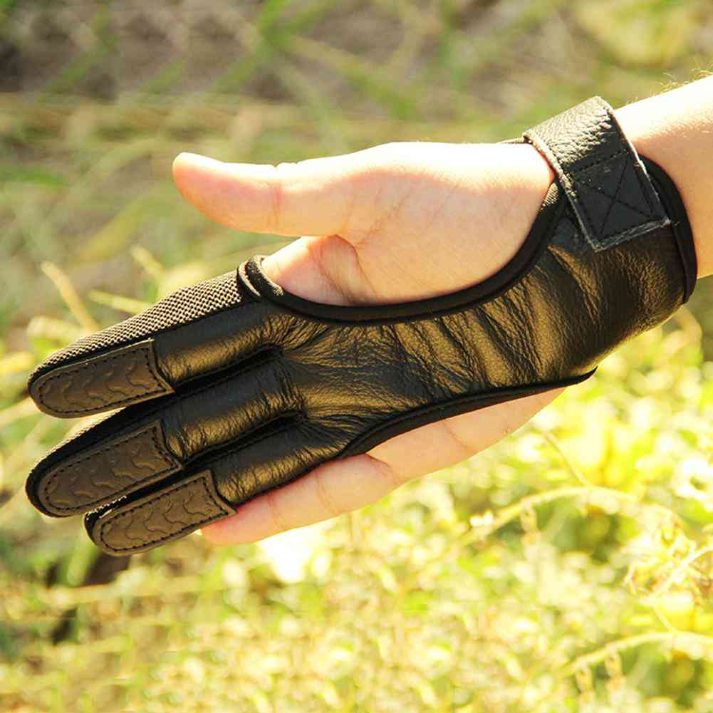 Professional, High Elastic, Leather Gloves For Archery