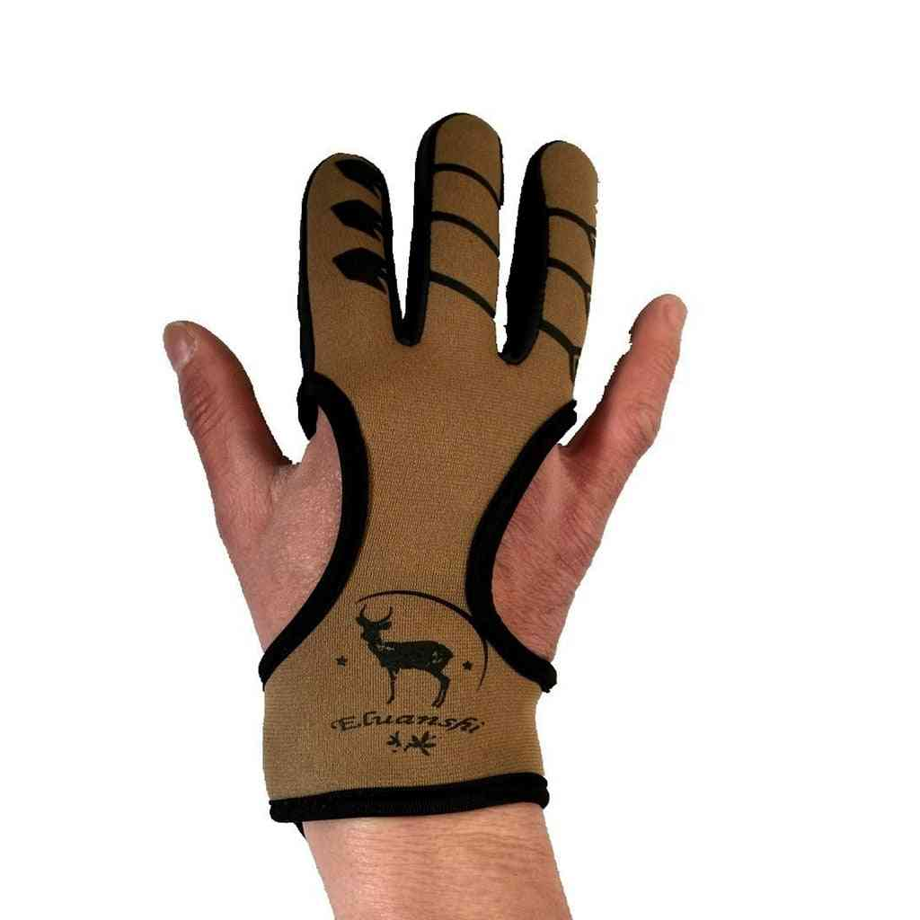 3 Fingers Protective Hand Gloves- Slingshot/archery
