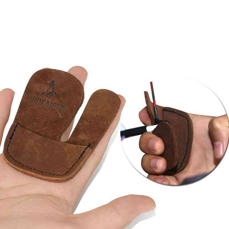 Durable Genuine Leather Archery Finger Protection Glove