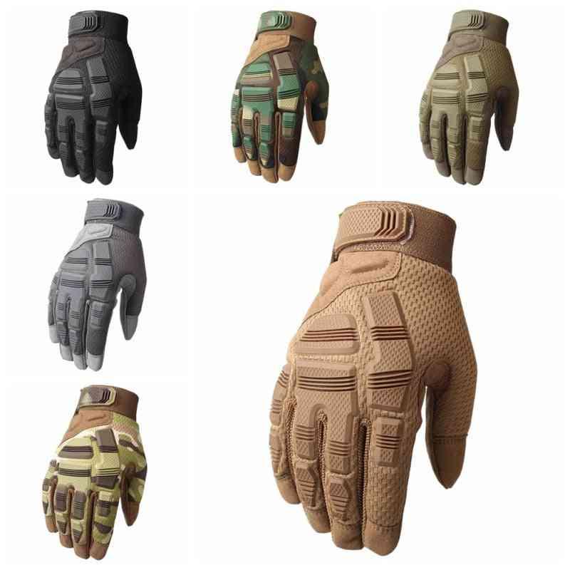 Non-slip, Rubber Protection, Full Finger Gloves For Outdoor Sports