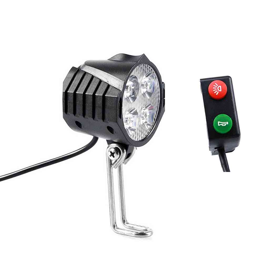 Electric Bicycle Led Light With Horn Switch