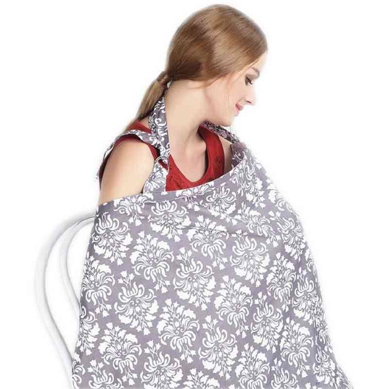 Infant Nursing Gown Breathable Cotton Apron Newborn Feeding Blanket
