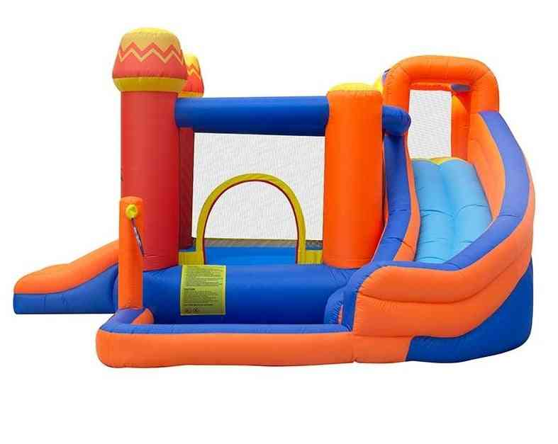 Bounce House Water Park Pirate Bay - Inflatable Slide Combo Blower