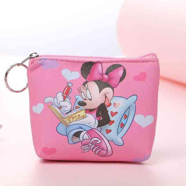 Children Cartoon Purses - Frozen Girl Coin Bag Mickey Clutch Plush Wallet