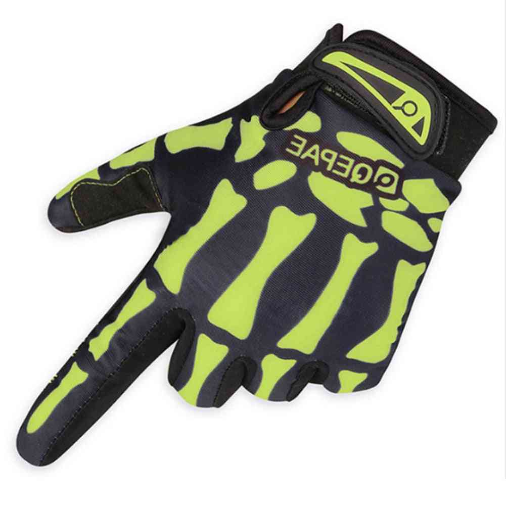 All Finger Skeleton Design Warm Gloves For Outdoor Activities