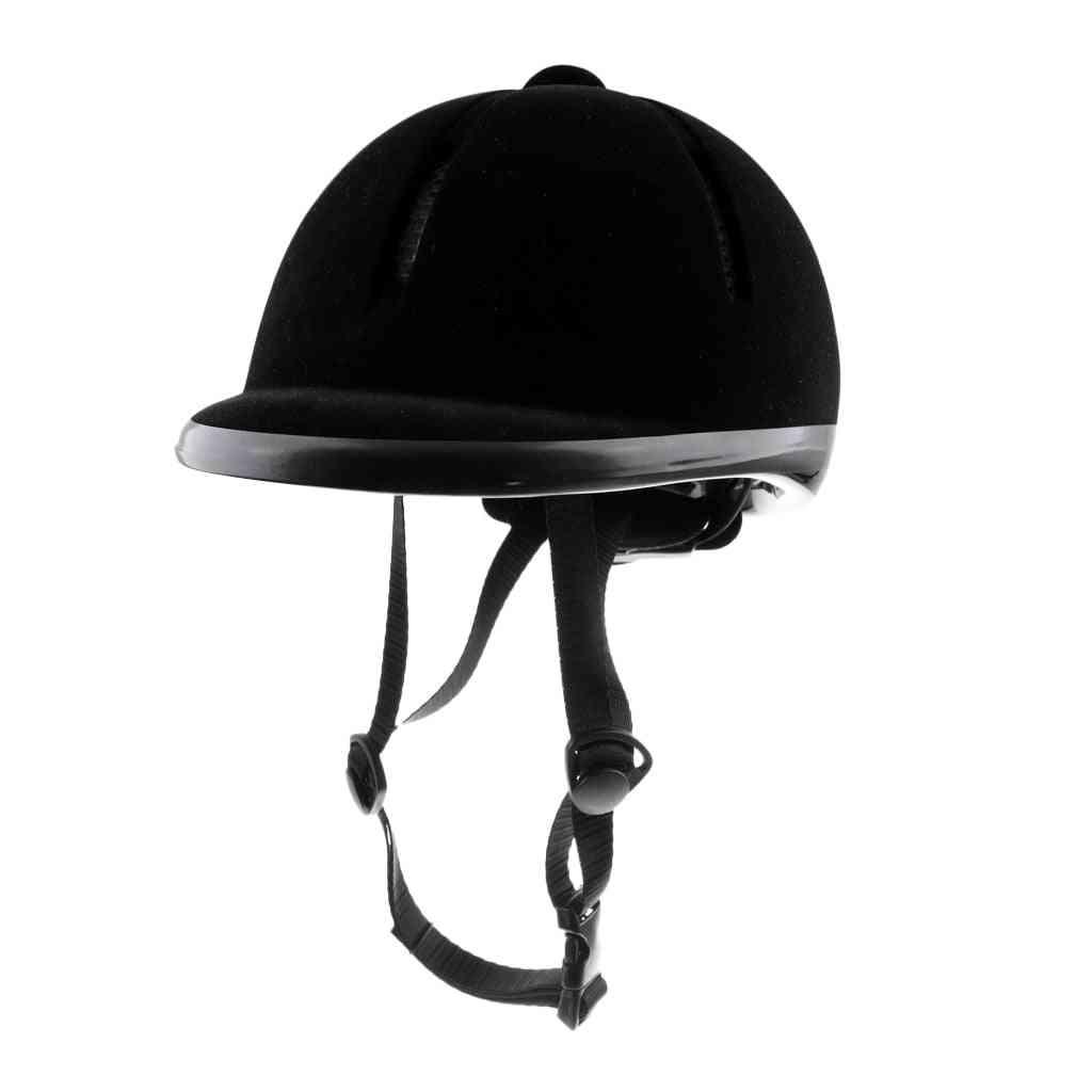Horse Riding Helmet, Velvet Equestrian Rider Safety Head
