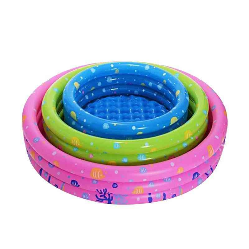 Portable Indoor Outdoor Baby Swimming Pool, Inflatable Basin Bathtub
